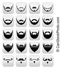 Beard with moustache or mustache ve