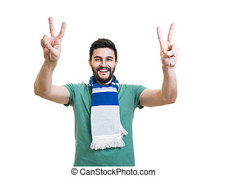 Bearded football fan