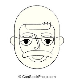 bearded grandfather face with glasses