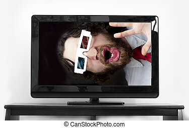 Bearded Man 3D Glasses