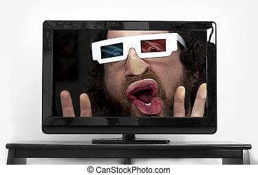 Bearded Man 3D Glasses