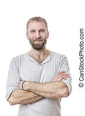 bearded man casual