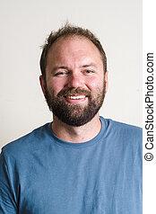 Bearded Man Headshot Portrait - Headshot portrait of a man...