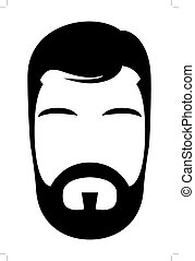 Bearded man illustration
