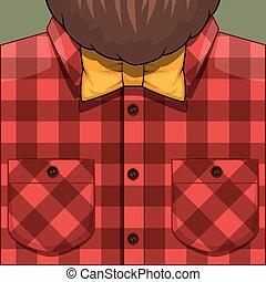 Bearded Man illustration - Bearded Man vector cartoon...
