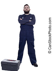 Bearded man mechanic