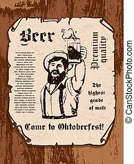 bearded man with a beer mug in his hand