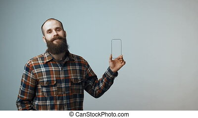 Bearded man with small frame
