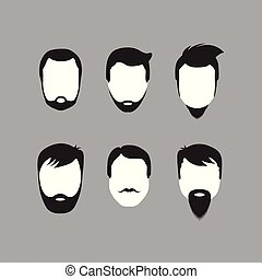 bearded men faces