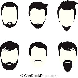 bearded men faces