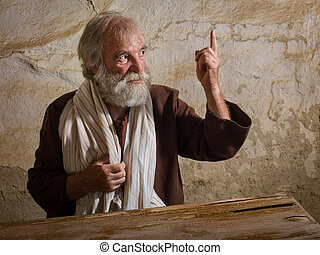 Bearded Prophet in biblical scene - Prophet in historical ...