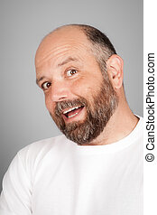 bearded smiling man