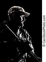 Bearded Spec ops Operator
