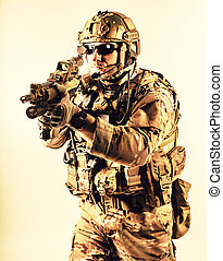 special warfare operator - Bearded special warfare operator...