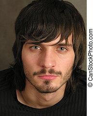 beardman, gezicht, 2