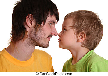 beardman with child