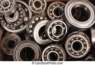 nice bearing technological background from the steel