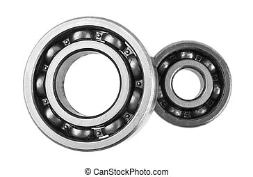 bearings isolated on white background