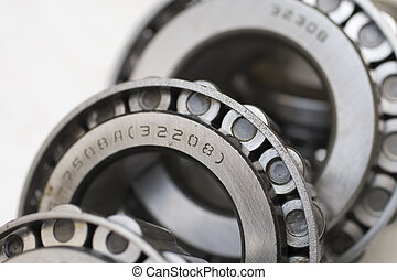 bearings - industrial bearings on white background