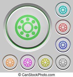 Bearings push buttons