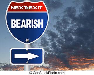 bearish, panneaux signalisations