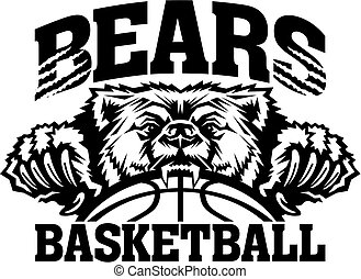 bears basketball team design with mascot and ball for...