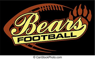 bears football team design in script with ball for school,...