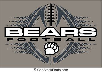 bears football team design with claw print and ball for...