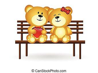 Bears In Love - colourfull