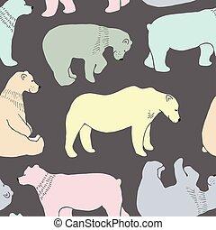 Bears pattern in vector