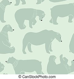 Bears seamless pattern in vector.