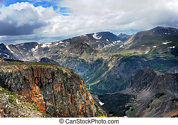 beartooth, bovenzijde, bergpas