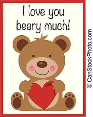 beary, 许多, 爱, 你, valentine