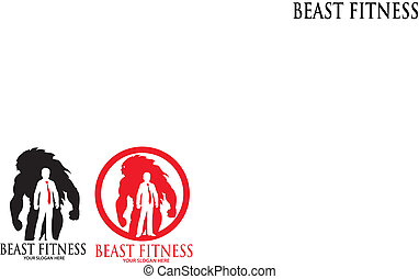 Beast Fitness Logo Template