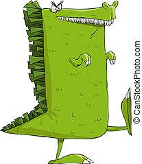 Beast - Monster on a white background, vector illustration