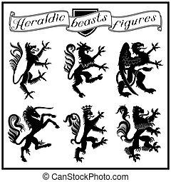 beasts, héraldique, figures