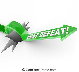 Beat Defeat - Arrow Jumping Over Hole to Overcome Adversity