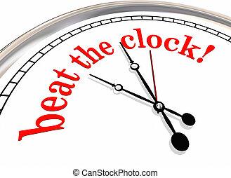 Beat the Clock Deadline Record Time 3d Illustration