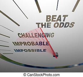 Beat the Odds Successful Goal Achievement Speedometer