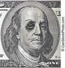 Beat Up Ben Franklin - A beat up Ben Franklin