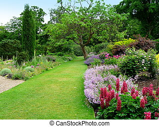 beatiful, 공원, 정원