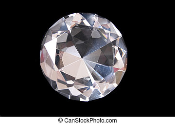 diamond - beatiful big diamond on the black background