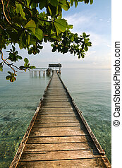Beatiful boat dock - A beatiful view of a dock in tropical...