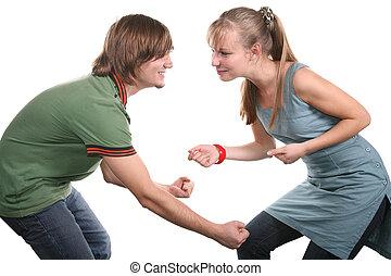 beatiful couple dancing