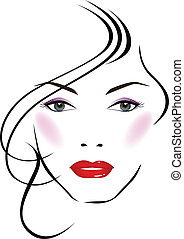Vector illustration of beautiful face