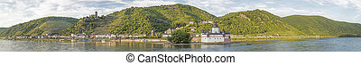 beatiful panoramic view to the Rhine valley, a unesco world...