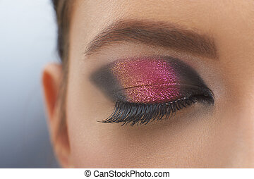 Beatiful photo of the eye with perct make- up - A picture of...