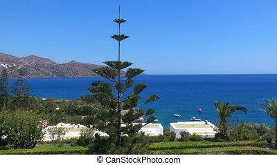 Beatiful sea view of Mirabello Bay near Agios Nikolaos