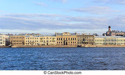Beatiful view Neva river in Saint Petersburg. - Beatiful ...