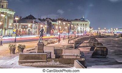 Beatiful view Neva river in Saint Petersburg, Russia - St....